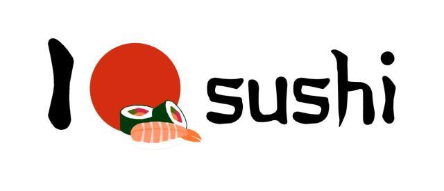 japón, sushi, diseño, rojo, gráfico