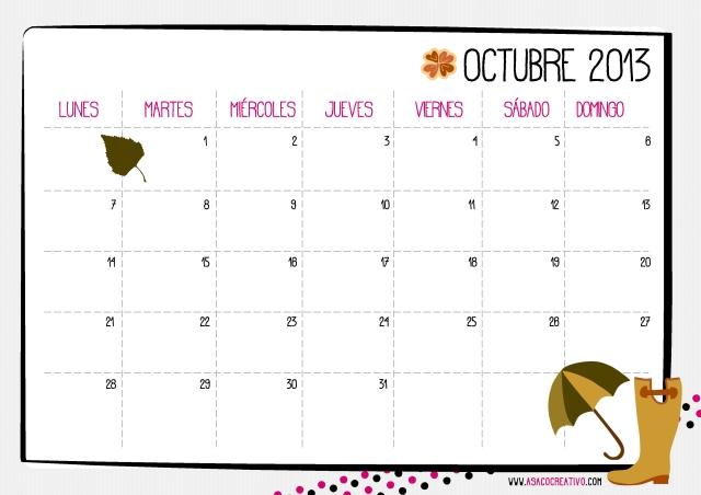 calendario octubre