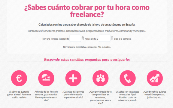 Calculadora freelance cuanto cobrar por horas handmade